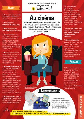 """Affichette Société inclusive """"Au cinéma"""""""