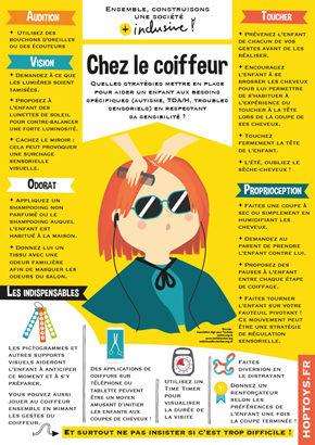 """Affichette Société inclusive """"Chez le coiffeur"""""""